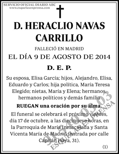 Heraclio Navas Carrillo